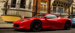 Ferrari 458 (Photocutout) Tags: red white london cars sports car yellow cutout spider italia convertible ferrari knightsbridge saudi arabia 458