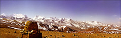 Spring snow on Himalayas (Katarina 2353) Tags: china desktop travel vacation panorama mountain snow mountains film nature landscape photography photo spring high nikon asia view image outdoor paisaje panoramic tibet resolution peaks paysage range himalayas vertorama katarinastefanovic katarina2353