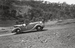 Colin Reynolds driving a Sunbeam Talbot, 16th Rob Roy Hill Climb. (State Library Victoria Collections) Tags: cars 1948 car australia melbourne victoria grandprix 1940s carracing statelibraryofvictoria