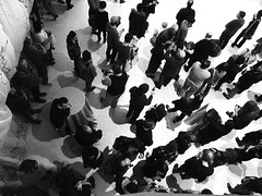 The Crowd Below (imjackhandy) Tags: bw music festival museum lumix knoxville tennessee crowd performance knoxvillemuseumofart bigearsfestival