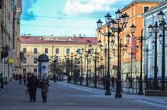 Sky and lanterns (Zzmeika) Tags: street city spring russia petersburg saintpetersburg jupiter37a