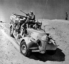 Those of us who grew up watching The Rat Patrol harbor a latent interest in desert warfare of World War Two. While The Rat Patrol was entertaining TV, it also took some historical liberties. The series was loosely based on the British Army's Long Range Desert Group, an elite unit that used Chevrolet trucks (shown above) more often than jeeps to conduct raids and reconnaissance patrols behind the lines of the German Africa Corps.