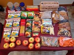 Nourriture pour nos 5 jours de trek