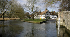 Ford at Eynsford village (Adam Swaine) Tags: uk bridge winter england english ford water canon river kent village britain villages rivers fords eynsford 2015 swaine darent