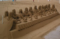 Sand Sculptures @ Levante Beach Av. Madrid, Benidorm, Spain (Columbiantony Photography) Tags: madrid travel sea sun beach last amazing spain sand jimmy tony hood supper thelastsupper sculptures av benidorm columbian sculptured levante jimmyhood