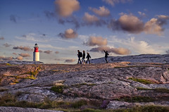 To the Lighthouse (Nespyxel) Tags: sunset sky lighthouse rock clouds landscape faro sweden svezia smogen vastragotaland nespyxel stefanoscarselli