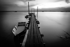 Back to basic (nashriqmohd) Tags: camera longexposure sunset blackandwhite sun beautiful sunrise landscape dawn pier nikon exposure cityscape background jetty sigma hobby slowshutter gadget interest backgroud ndfilter nikonasia nikond5500