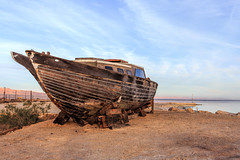 Past Glories (dshoning) Tags: sunset sky color abandoned boat saltonsea