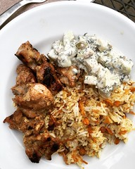 Moroccan spiced grilled chicken (David Lebovitz) Tags: chicken recipe bbq grill kebab skewer moroccan poulet gyro brochette schwarma raselhanout