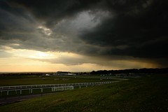 Oncoming electricity (smcnally24601) Tags: england storm rain clouds downs surrey british lightning derby epsom thunder