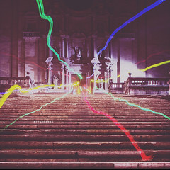 Game of Lights. (arturii!) Tags: city trip travel urban game church beauty up night stairs wow lights vanishingpoint amazing nice interesting holidays colorful europe call tour cathedral bright superb awesome great catalonia medieval girona route stunning jewish viatge got catalunya vacations impressive catalan gettyimages diminishingperspective gameofthrones juegodetronos arturii arturdebattk canonoes6d