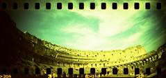 Colosseo 5 (Nicola Donato) Tags: rome roma lomo xpro lomography xprocess crossprocess toycamera wide panoramic colosseum rocket agfa vignetting agfaprecisa analogphotography plasticcamera colosseo sprocket plasticlens precisa ct100 sprocketrocket analogicait