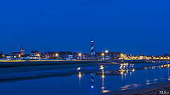 Dunkerquois_0516-117-2 (Mich.Ka) Tags: longexposure blue sea mer reflection beach port dune bleu reflet bluehour nordpasdecalais plage faade nord digue poselongue heurebleue platierdoye grandfortphilippe dunkerquois