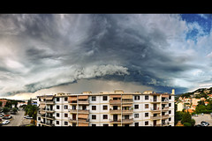 * Apocalyptic sky * (-ABLOK-) Tags: summer sky cloud storm clouds nice chaos thunderstorm lightning t orage nissa arcus