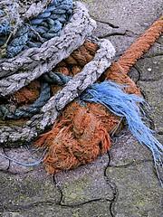 COLOURS of ROPE (conespider) Tags: blue orange outside grey nikon colours outdoor cork ropes cob westcoast southernireland 2016