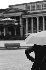 Detail (Isengardt) Tags: bw white black detail monochrome rain weather umbrella canon germany bench handy deutschland eos 50mm europa europe hand stuttgart details columns cellphone bank smartphone sw monochrom weiss schwarz regen wetter pavillon ausschnitt sulen pfeiler regenschirm badenwrttemberg knigstrasse knigsbau 550d schlosplatz