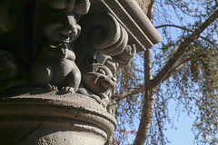 Stoned Squirrels (Mr__Twitchy) Tags: california travel detail classic tourism architecture canon photography squirrel unitedstates disneyland pillar disney adventure southerncalifornia orangecounty anaheim snowwhite dca themepark fantasyland waltdisney disneycaliforniaadventure darkride snowwhitesscaryadventure canon6d