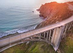 Big Sur, CA - Bixby Bridge (lulejt) Tags: ocean california bridge sunset puente bigsur roadtrip pch westcoast us1 bixbybridge drone bixbycreekbridge
