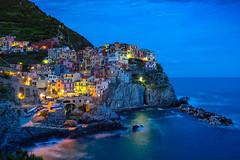 Manarola | The Blue Hour (Edoardo Angelucci) Tags: sea landscape photography nightshot liguria cinqueterre bluehour manarola edoardo angelucci geo:lat=44107327 geo:lon=9725443