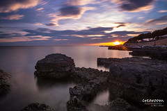 Umag ND Sunset Kroatien (crearoom.ch) Tags: sunset sea cloud sun color stone night landscape meer sonnenuntergang steine nd hr landschaft pictureoftheday photooftheday picoftheday kroatien umag istrien lovreica crearoom istarskaupanija