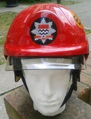 2004 London Fire Brigade MAIAT HISL Cromwell F600 Fire Helmet (Lesopc) Tags: 2005 london 2004 fire team helmet systems agency limited ltd multi initial cromwell brigade assessment integrated f600 lfb hisl lfepa maiat lfcda