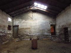 IMG_6869 (NapoleonIsNotDead) Tags: light shadow abandoned dark weird iceland wire ancient iron paint shine gloomy farm creepy warehouse horror lonely feelings obscure selfoss