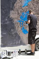 116in2016 #41 graffiti / street art (Karen Juliano) Tags: streetart painting artist drawing denver join 2016 deltondemarest inkmonstr denvercomiccon
