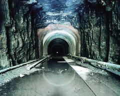 (.tom troutman.) Tags: longexposure abandoned 120 mamiya film analog mediumformat 50mm kodak nj 7 tunnel 6x7 portra edgewater fairview 160
