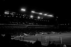 Towards the West Stand (The_Kevster) Tags: blackandwhite bw game london monochrome evening stand football goal nikon shadows stadium end match pitch dslr watford eastend eastlondon floodlights westhamunited 2016 westham premierleague uptonpark bobbymoore boleyn nikkor1855mm boleynground londoneast bobbymoorelower nikond3300 lastdaysoftheboleyn