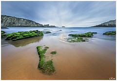 COVACHOS (Estudios BiM) Tags: espaa verde sol beach atardecer mar spain agua playa cielo santander roca acantilado cantabria
