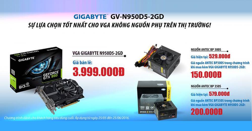 NGUỒN PHỤ GIÁ SỐC CHỈ TỪ 150.000 KHI MUA KÈM VGA N950D5