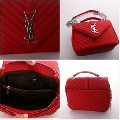 Import @240 Bag YSL 0325 22x10x17cm Kulit SHW #SemiPremium#Black#Red#Beige#Babypink#Babyblue (merboutique) Tags: red black beige babyblue babypink semipremium