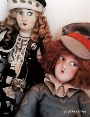 Deco alma boudoir doll and mary picford (motherxmas2003) Tags: bed doll alma boudoir