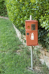 Fire's Out (dewane) Tags: red italy fire florence hedge boboligardens extinguisher fireextinguisher select