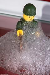 foam party (Wayne Stiller) Tags: red party man green yellow lego bubbles foam penny macromondays marcomondays