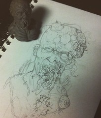 Infected Concept (ZZFX) Tags: detail art film pencil dark painting paper weird sketch scary paint artist drawing vampire zombie character horror create concept spawn fx darkart spfx zzfx