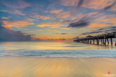 Florida Life: Rip Ride (Thncher Photography) Tags: longexposure sky beach clouds sunrise reflections landscape pier sand waves florida sony scenic tropical jupiter fullframe fx atlanticocean waterscape junobeach ndfilter f20 13secondexposure oceanscape southeastflorida zeissfe1635mmf4zaoss a7r2 ilce7rm2 sonya7r2