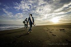 SUNSET TIME (higehiro) Tags: surfer beach shonan japan d800 nikon landscape