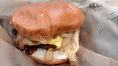 Cheeseburger At Highway 55. (dccradio) Tags: food cheese dinner lunch nc ketchup fastfood northcarolina eat cheeseburger snack hamburger meal slaw catsup roll supper bun andys coleslaw meltedcheese lumberton americancheese highway55 grilledonions robesoncounty