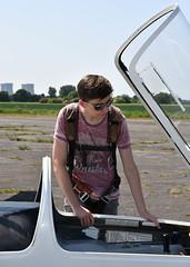 DSC_7160.jpg (littlestschnauzer) Tags: son teenager teenage flight gliding glider preflight checks canopy pilot burn club aviation aircraft yorkshire uk parachute summer day sport runway
