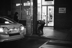 accident (MitchBoudreau) Tags: road street blackandwhite toronto film monochrome 35mm paper iso3200 king crash streetphotography 3200 ilforddelta
