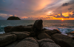 (www.mjbrownphotography.com) Tags: ocean travel sunset sea sky sun seascape colour nature water clouds thailand nikon waves tokina lught