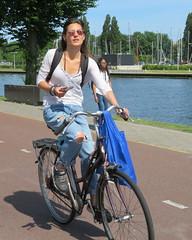 Amsterdam Noord Buiksloterweg bike (GeRiviera) Tags: holland netherlands girl dutch amsterdam bike bicycle candid nederland bikes fiets niederlande noord fahrad buiksloterweg