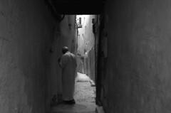 Man on alley (marianovsky) Tags: bw man alley morocco fez marruecos hombre callejn marianovsky