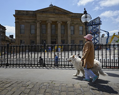 Walking the dog (JEFF CARR IMAGES) Tags: lancashire northwestengland towncentres milltowns