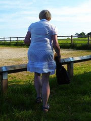 CAJ162 (margil pippin) Tags: wife rearview vpl whitedress wifespanties