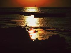 Sunset and fisherman in the Mediterranean (Beirut, Lebanon. Gustavo Thomas  2016) (Gustavo Thomas) Tags: sunset sea lebanon sun mer sunlight sol atardecer soleil mar fisherman mediterranean puestadesol beirut pcheur mediterrneo coucherdesoleil pescador beyrouth liban mditerrane lebnen luzdesol