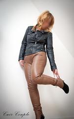 elle240 (Cuir Couple) Tags: leather bondage skirt bdsm master jacket jupe mistress veste leder matre pant pantalon cuero cuir hosen cravache maitresse martinet cuissardes
