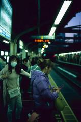 Train Station. (monkeyanselm) Tags: leica m6ttl 058x 35mmf14 summilux asph fujifilm provia rangefinder analog camera film tokyo japan december 2015
