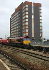 Swindon Skyline (James Passant) Tags: uk station train docks diesel swindon cardiff rail trains db cargo 66 class locomotive railways freight trainspotting wembley schenker 66094 6z94